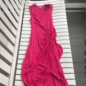 H&M's hot pink drape dress